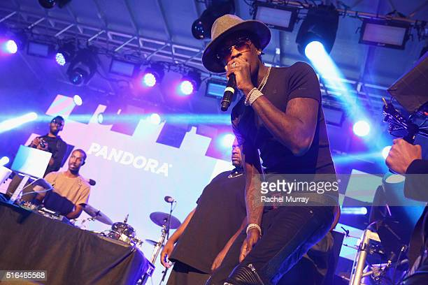 Rapper Young Thug performs onstage during the PANDORA Discovery Den SXSW on March 18 2016 in Austin Texas