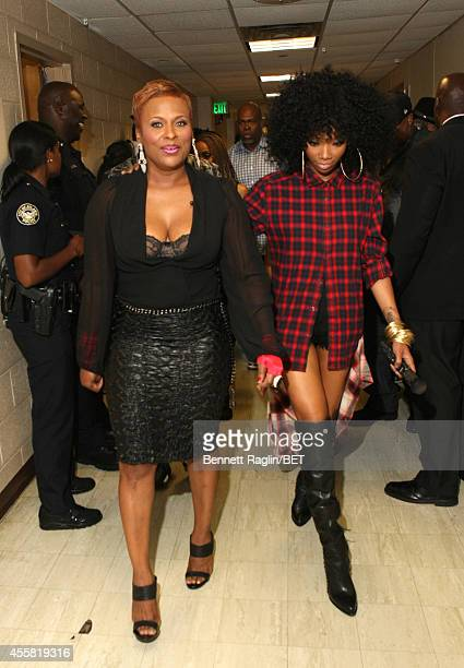 Rapper YoYo and singer Brandy attends the BET Hip Hop Awards 2014 at Boisfeuillet Jones Atlanta Civic Center on September 20 2014 in Atlanta Georgia