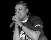 Rapper YoYo performs at the UIC Pavilion in Chicago Illinois in NOVEMBER 1990