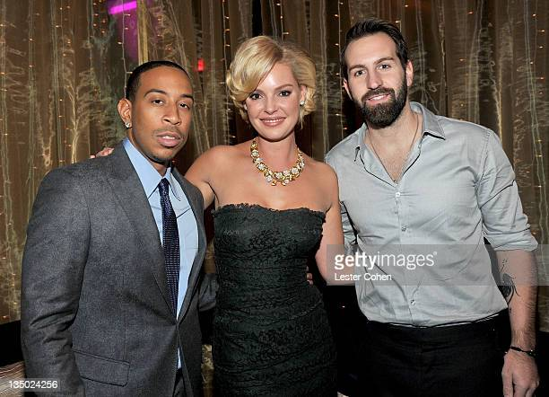 Rapper/actor Chris 'Ludacris' Bridges actress Katherine Heigl and singer Josh Kelley attend the Los Angeles premiere of 'New Year's Eve' after party...