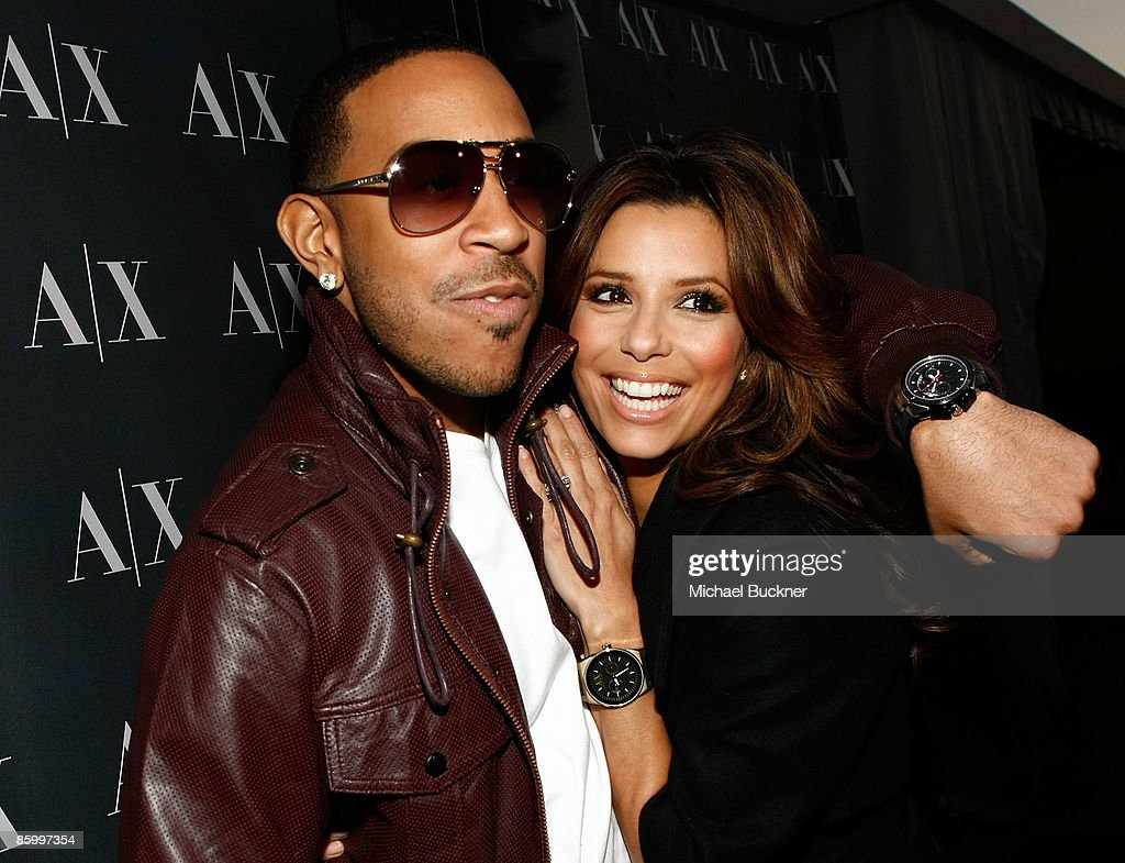 Rapper/actor Chris 'Ludacris' Bridges and actress Eva Longoria arrive at the launch of A/X Watches at the SLS Hotel on April 15 2009 in Los Angeles...
