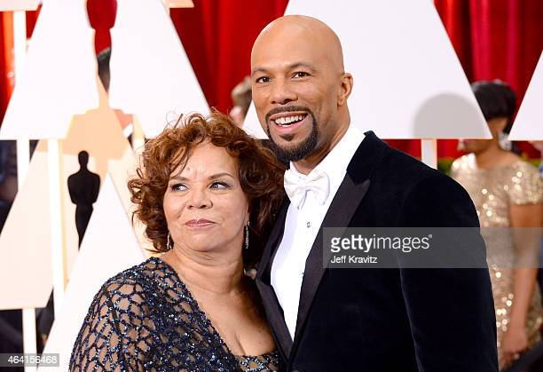 Rapper/Actor Common and mother Dr Mahalia Ann Hines attends the 87th Annual Academy Awards at Hollywood Highland Center on February 22 2015 in...