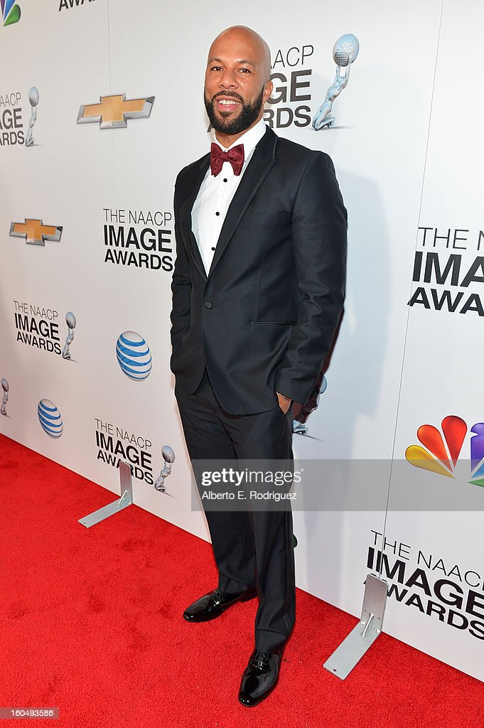 Rapper/actor Common attends the 44th NAACP Image Awards at The Shrine Auditorium on February 1, 2013 in Los Angeles, California.