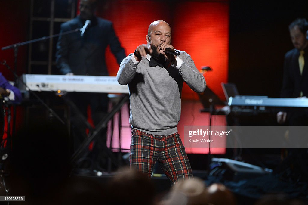 Rapper-actor Common performs onstage during the 44th NAACP Image Awards at The Shrine Auditorium on February 1, 2013 in Los Angeles, California.
