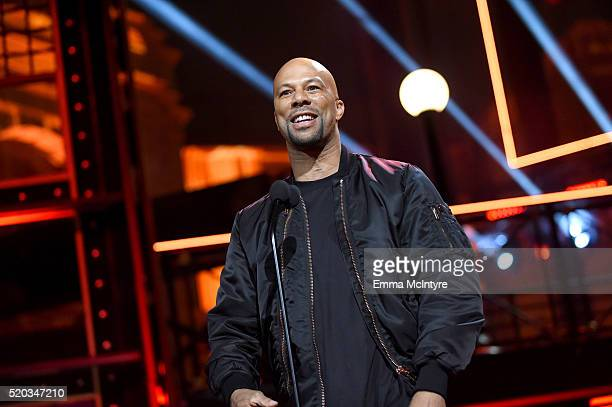 Rapper/actor Common speaks onstage during the 2016 MTV Movie Awards at Warner Bros Studios on April 9 2016 in Burbank California MTV Movie Awards...