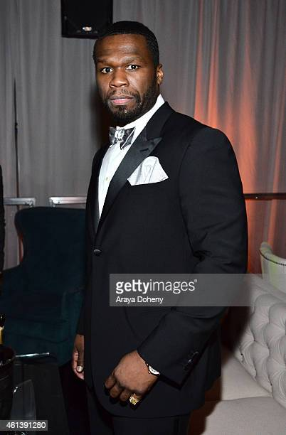 Rapper/actor Curtis '50 Cent' Jackson attend The Weinstein Company Netflix's 2015 Golden Globes After Party presented by FIJI Water Lexus Laura...