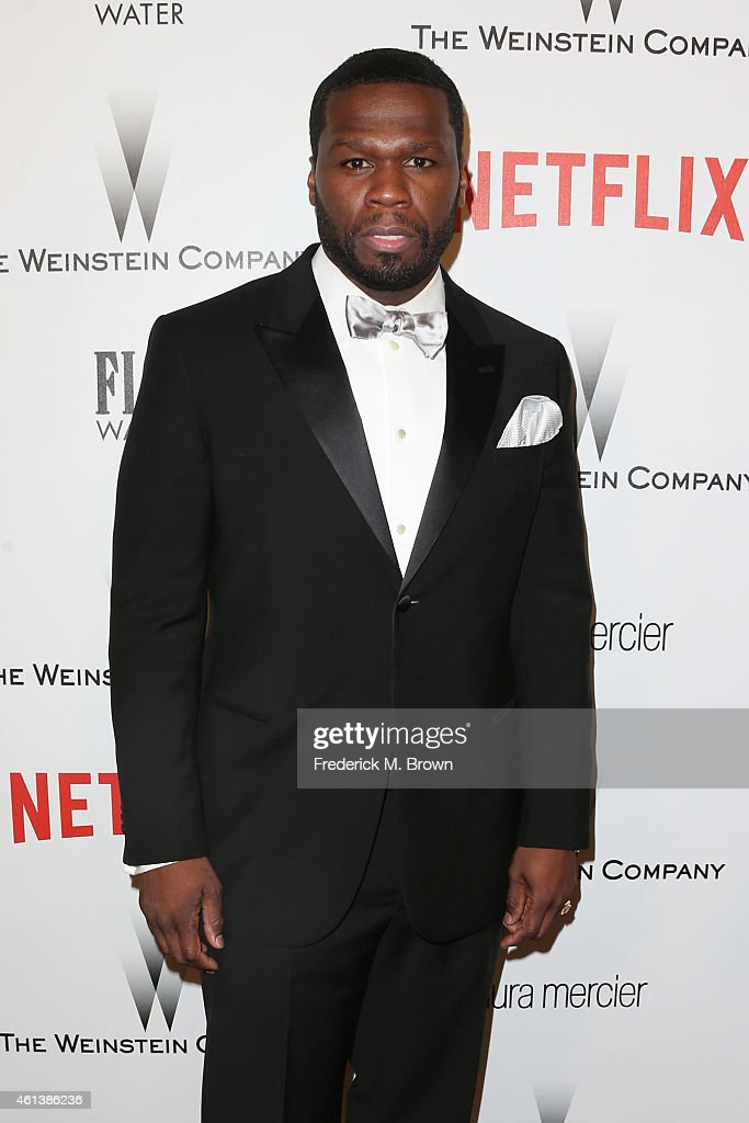 Rapper/actor Curtis '<a gi-track='captionPersonalityLinkClicked' href=/galleries/search?phrase=50+Cent+-+Rapper&family=editorial&specificpeople=215363 ng-click='$event.stopPropagation()'>50 Cent</a>' Jackson attends the 2015 Weinstein Company and Netflix Golden Globes After Party at Robinsons May Lot on January 11, 2015 in Beverly Hills, California.