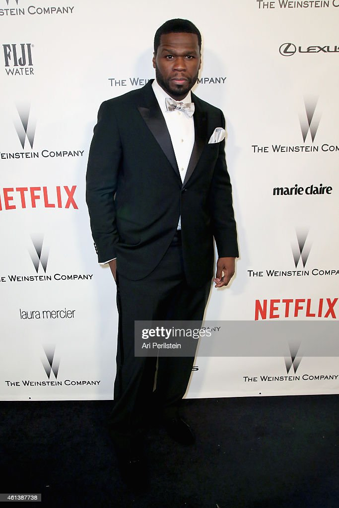 Rapper/actor Curtis '<a gi-track='captionPersonalityLinkClicked' href=/galleries/search?phrase=50+Cent+-+Rapper&family=editorial&specificpeople=215363 ng-click='$event.stopPropagation()'>50 Cent</a>' Jackson attends The Weinstein Company & Netflix's 2015 Golden Globes After Party presented by FIJI Water, Lexus, Laura Mercier and Marie Claire at The Beverly Hilton Hotel on January 11, 2015 in Beverly Hills, California.
