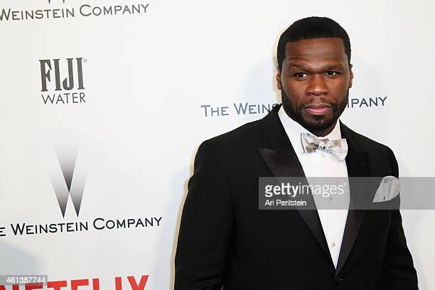 Rapper/actor Curtis '50 Cent' Jackson attends The Weinstein Company Netflix's 2015 Golden Globes After Party presented by FIJI Water Lexus Laura...