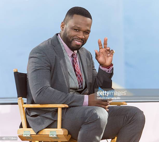 Rapper/actor Curtis James Jackson III aka 50 Cent On ABC's 'Good Morning America' at Rumsey Playfield Central Park on July 24 2015 in New York City