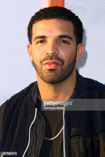 Rapper/Actor Drake attends the 'Get Hard' Los Angeles premiere held at the TCL Chinese Theatre IMAX on March 25 2015 in Hollywood California