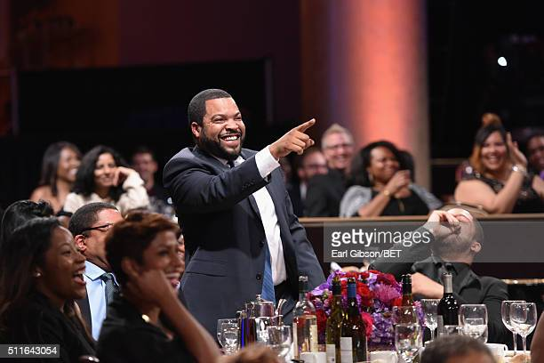 Rapperactor Ice Cube attends the 2016 ABFF Awards A Celebration Of Hollywood at The Beverly Hilton Hotel on February 21 2016 in Beverly Hills...