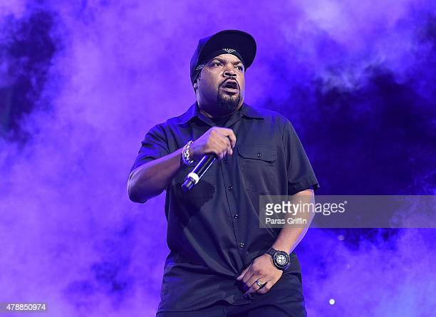 Rapper/actor Ice Cube performs onstage during the Ice Cube Kendrick Lamar Snoop Dogg Schoolboy Q AbSoul Jay Rock concert during 2015 BET Experience...
