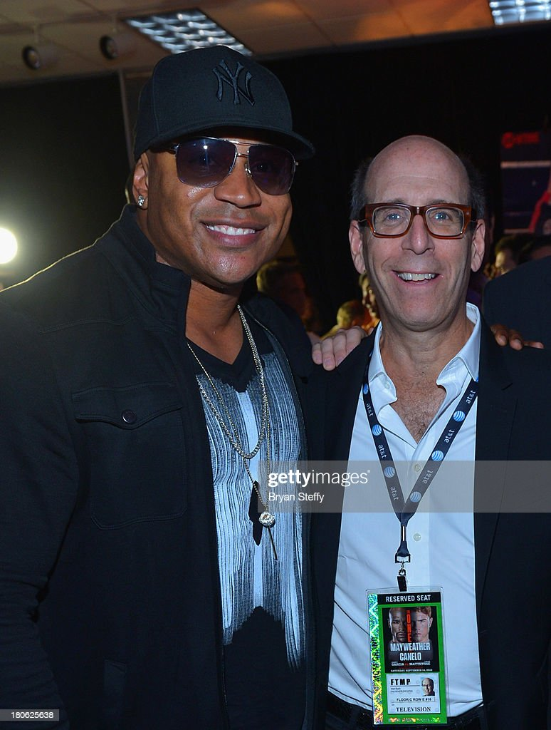 Rapper/actor <a gi-track='captionPersonalityLinkClicked' href=/galleries/search?phrase=LL+Cool+J&family=editorial&specificpeople=201567 ng-click='$event.stopPropagation()'>LL Cool J</a> (L) and Showtime Chairman and CEO <a gi-track='captionPersonalityLinkClicked' href=/galleries/search?phrase=Matt+Blank&family=editorial&specificpeople=209321 ng-click='$event.stopPropagation()'>Matt Blank</a> attend the VIP pre-fight party at the Floyd Mayweather Jr. vs. Canelo Alvarez boxing match at the MGM Grand Garden Arena on September 14, 2013 in Las Vegas, Nevada.