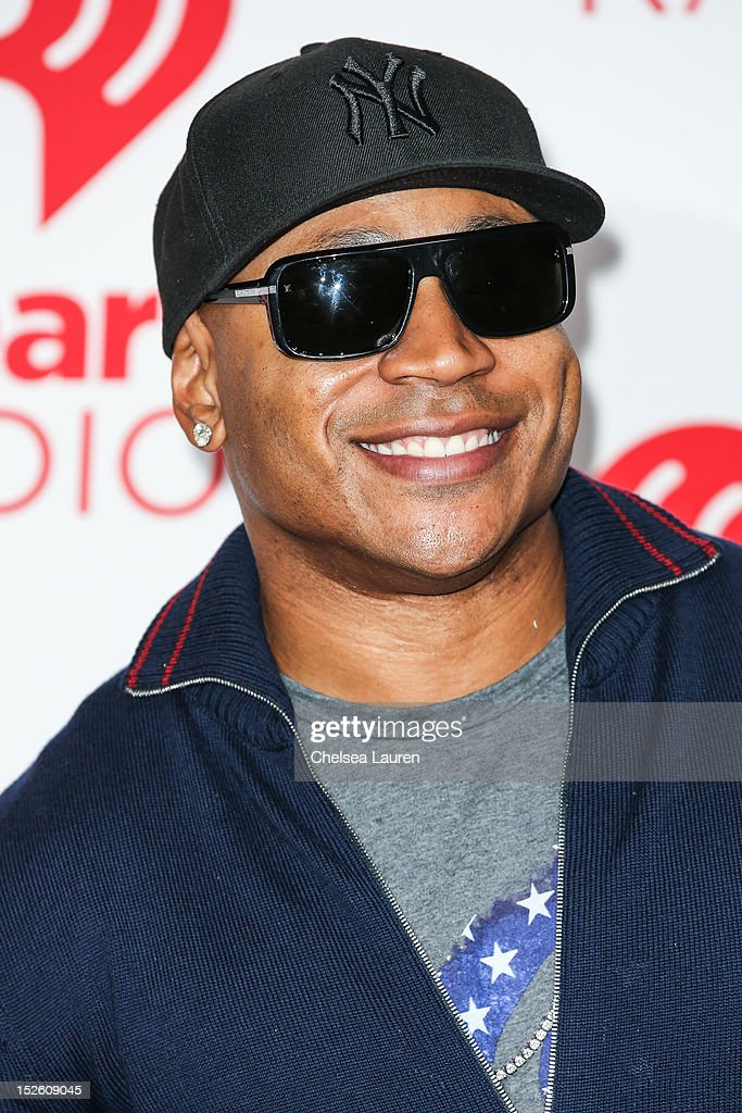 Rapper/actor <a gi-track='captionPersonalityLinkClicked' href=/galleries/search?phrase=LL+Cool+J&family=editorial&specificpeople=201567 ng-click='$event.stopPropagation()'>LL Cool J</a> arrives at iHeartRadio Music Festival press room at MGM Grand Garden Arena on September 22, 2012 in Las Vegas, Nevada.