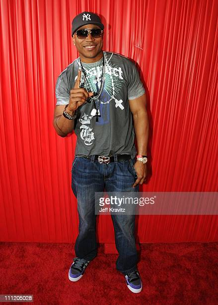 Rapper/Actor LL Cool J arrives at the 2008 BET Awards at the Shrine Auditorium on June 24 2008 in Los Angeles California