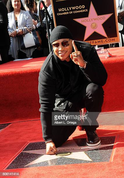 Rapper/actor LL Cool J is honored with a star on The Hollywood Walk of Fame on January 21 2016 in Hollywood California