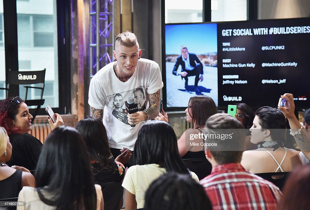 Rapper/actor Machine Gun Kelly performs at the AOL BUILD Speaker Series Machine Gun Kelly at AOL Studios In New York on May 26 2015 in New York City