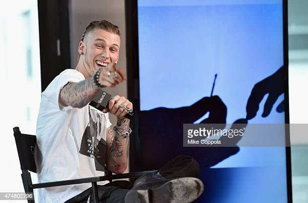 Rapper/actor Machine Gun Kelly speaks at the AOL BUILD Speaker Series Machine Gun Kelly at AOL Studios In New York on May 26 2015 in New York City