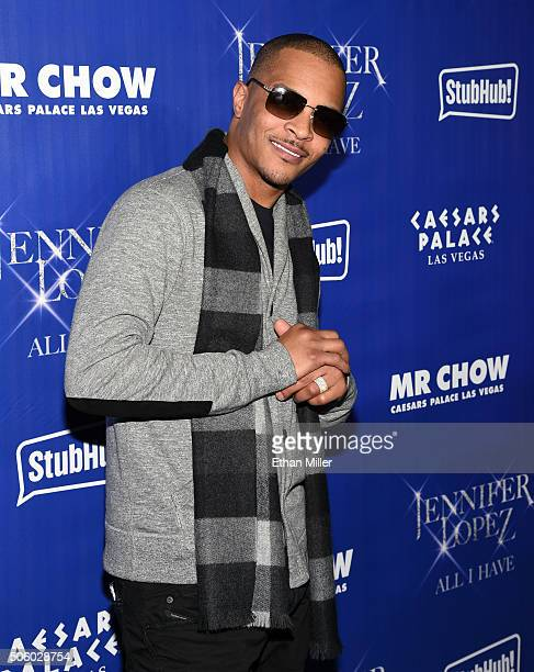 Rapper/actor Tip 'TI' Harris attends the after party for 'JENNIFER LOPEZ ALL I HAVE' and the grand opening of Mr Chow at Caesars Palace on January 21...
