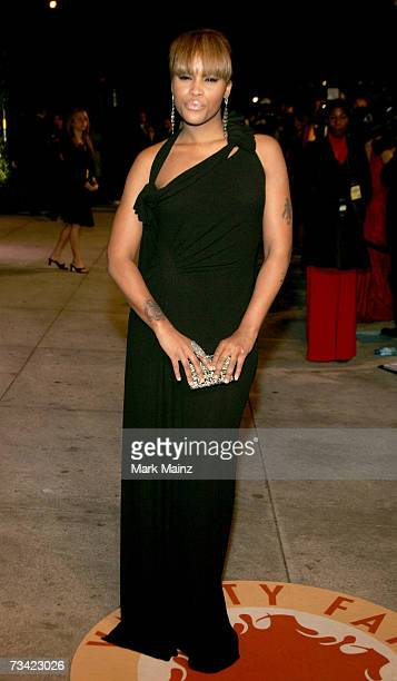Rapper/actress Eve arrives at the 2007 Vanity Fair Oscar Party at Mortons on February 25 2007 in West Hollywood California