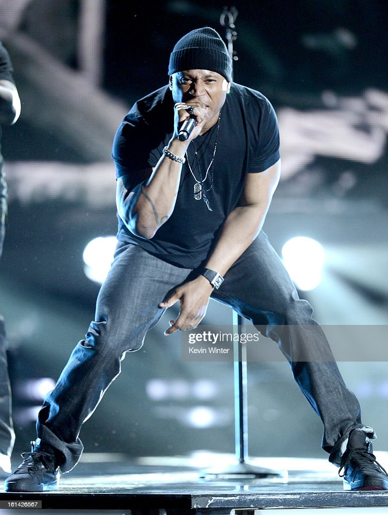 Rapper/host LL Cool J performs onstage during the 55th Annual GRAMMY Awards at STAPLES Center on February 10, 2013 in Los Angeles, California.