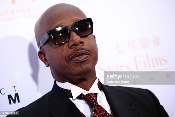 Rapperl MC Hammer attends the TCL Chinese Theatre IMAX hand/footprint ceremony honoring Justin Lin Zhao Wei Huang Xiaoming during the 88th Birthday...