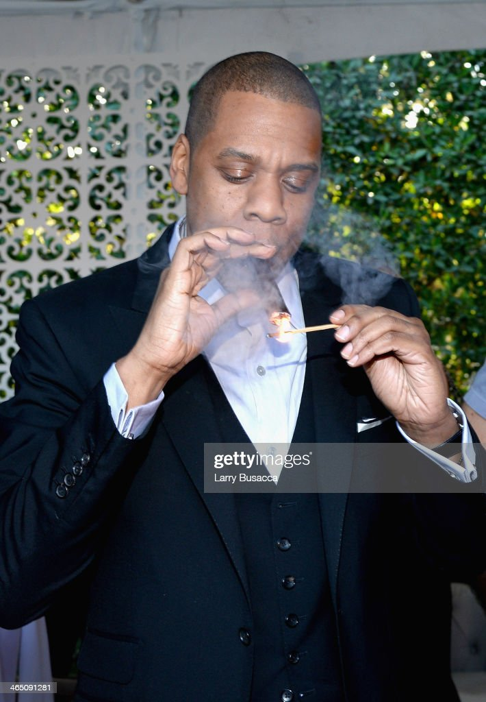 Rapper/producer <a gi-track='captionPersonalityLinkClicked' href=/galleries/search?phrase=Jay-Z&family=editorial&specificpeople=201664 ng-click='$event.stopPropagation()'>Jay-Z</a> attends the Roc Nation Pre-GRAMMY Brunch Presented by MAC Viva Glam at Private Residence on January 25, 2014 in Beverly Hills, California.