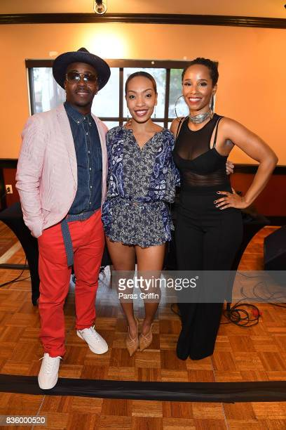 Rapper/producer Kwame radio personality Maria More and singer Vivian Green at Upscale Magazine's Brunch Style featuring Vivian Green on August 20...