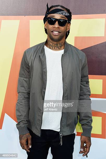 Rapper/producer Ty Dolla Sign attends The 2015 MTV Movie Awards at Nokia Theatre LA Live on April 12 2015 in Los Angeles California