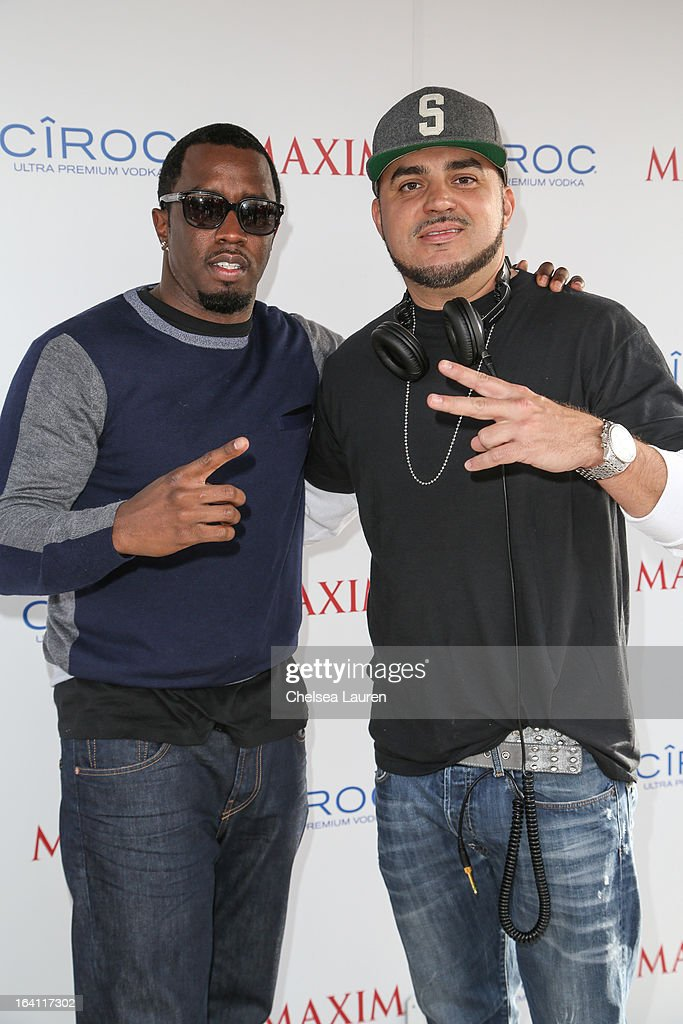 Rapper/producer/actor <a gi-track='captionPersonalityLinkClicked' href=/galleries/search?phrase=Sean+Combs&family=editorial&specificpeople=178993 ng-click='$event.stopPropagation()'>Sean Combs</a> (L) and DJ Felli Fel attend Ciroc and Maxim celebration of the National Day of Honor at Miramar MCX Military Base on March 19, 2013 in San Diego, California.
