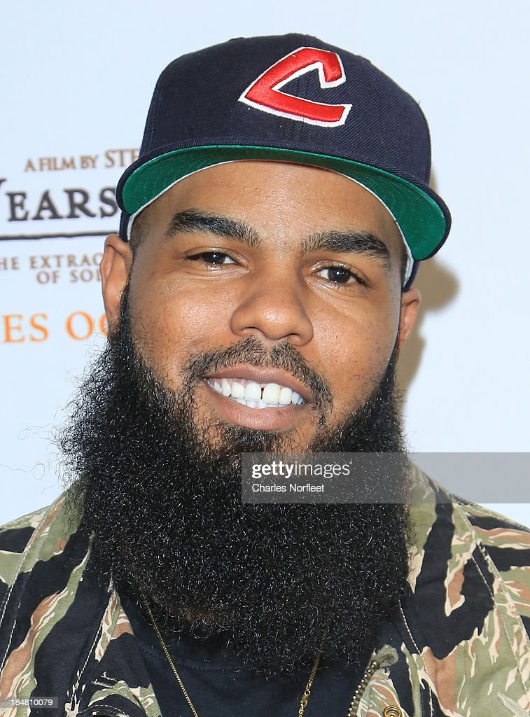Rapper/recording artist <a gi-track='captionPersonalityLinkClicked' href=/galleries/search?phrase=Stalley&family=editorial&specificpeople=5838307 ng-click='$event.stopPropagation()'>Stalley</a> attends the '12 Years A Slave' screening at AMC Empire 25 theater on October 16, 2013 in New York City.