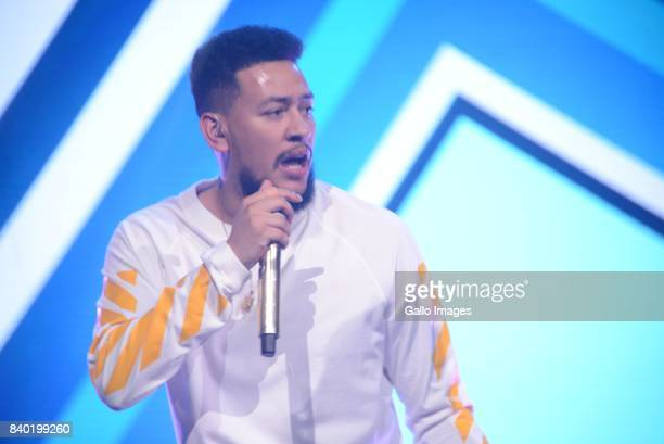 Rappers AKA and Anatii during the DStv Mzansi Viewers Choice Awards event at the Sandton Convention Centre on August 26 2017 in Sandton South Africa...
