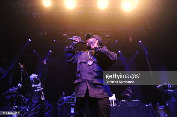 Rappers Andre 3000 and Big Boi of OutKast perform at the Adult Swim Upfront Party 2014 at Terminal 5 on May 14 2014 in New York City 24748_002_0489JPG