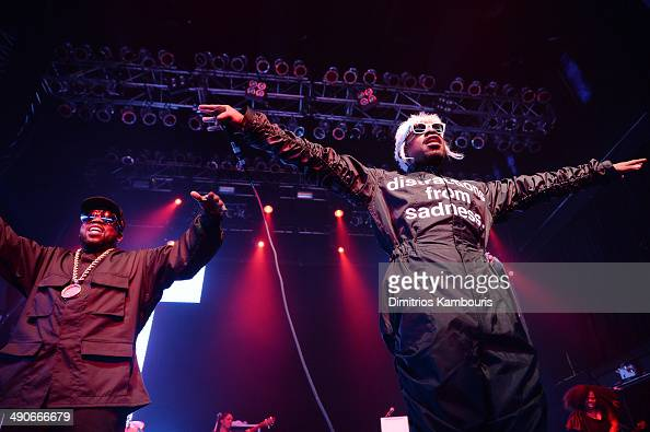 Rappers Big Boi and Andre 3000 of OutKast perform at the Adult Swim Upfront Party 2014 at Terminal 5 on May 14 2014 in New York City 24748_002_0338JPG