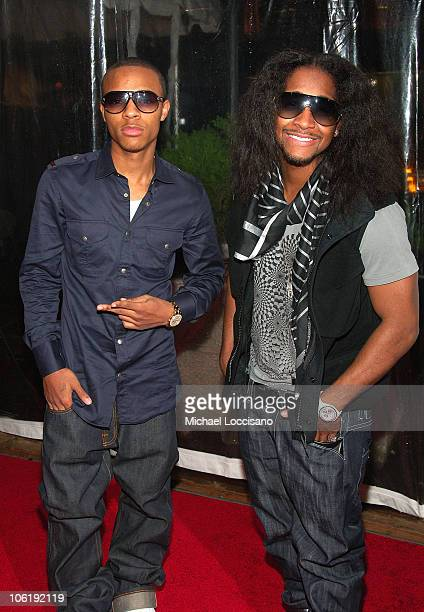 Rappers Bow Wow and Omarion attends 'I am Legend' premiere at the WaMu Theater at Madison Square Garden on December 11 2007 in New York City