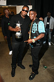 Rappers Doug E Fresh and Lil Boosie pose backstage at the BET Hip Hop Awards 2014 at Boisfeuillet Jones Atlanta Civic Center on September 20 2014 in...