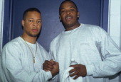 Rappers Dr Dre backstage at the Source Awards which were held at Madison Square Garden on August 3 1995 in New York New York