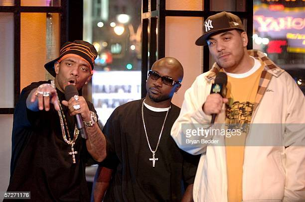 Rappers Havoc and Prodigy from the group Mobb Deep and host Cipha Sound make an appearance on MTV 2 Presents Sucker Free Week on April 6 2006 in New...