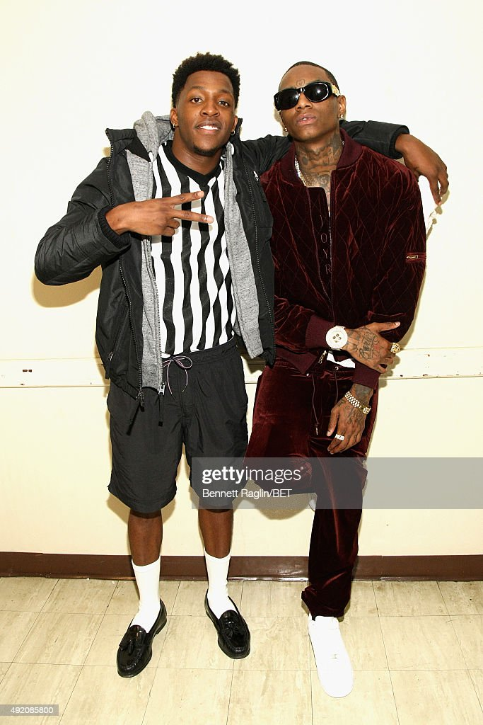 Rappers iheartMemphis and Soulja Boy attend the BET Hip Hop Awards Show 2015 at the Atlanta Civic Center on October 9 2015 in Atlanta Georgia