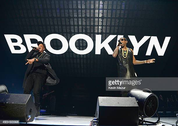 Rappers JayZ and Fabolous perform onstage during TIDAL X 1020 Amplified by HTC at Barclays Center of Brooklyn on October 20 2015 in New York City