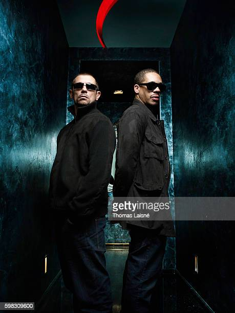 Rappers JoeyStarr and Kool Shen are photographed for Self Assignment on March 22 2010 in Paris France