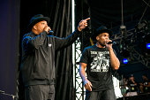 Rappers Joseph 'Rev Run' Simmons and Darryl 'DMC' McDaniels of RUN DMC performs during the 2014 Music Midtown Festival at Piedmont Park on September...