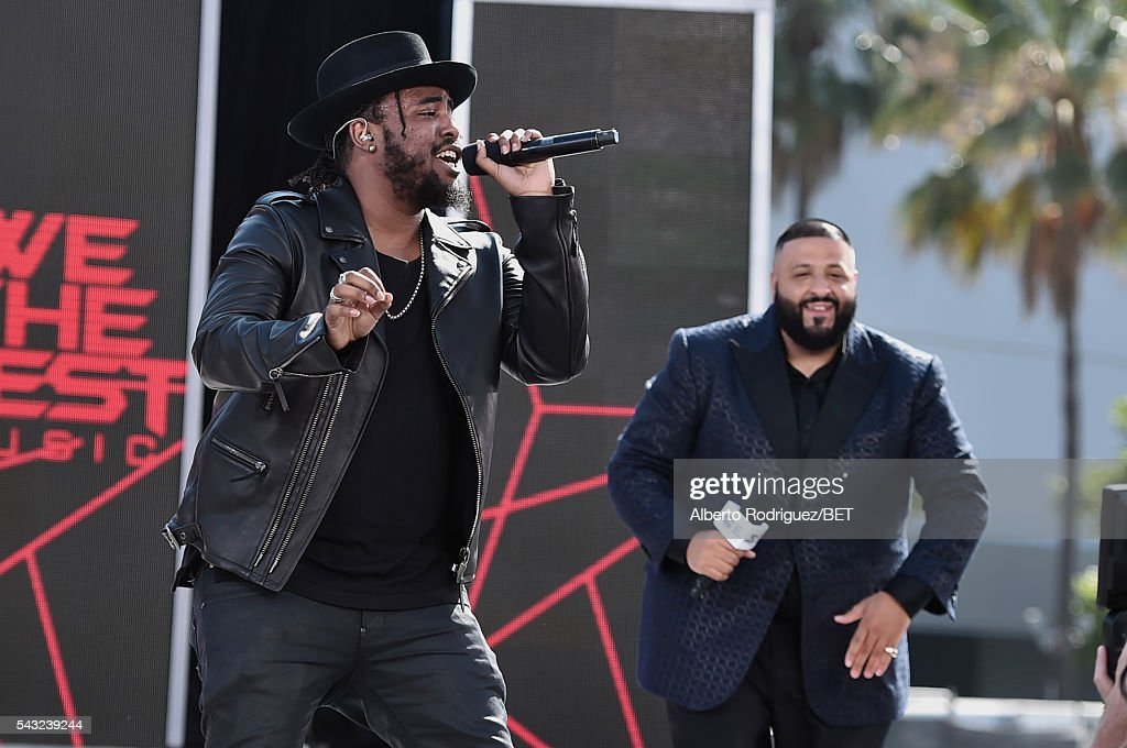 Rappers Ken Jones (L) and <a gi-track='captionPersonalityLinkClicked' href=/galleries/search?phrase=DJ+Khaled&family=editorial&specificpeople=577862 ng-click='$event.stopPropagation()'>DJ Khaled</a> perform before the 2016 BET Awards at the Microsoft Theater on June 26, 2016 in Los Angeles, California.