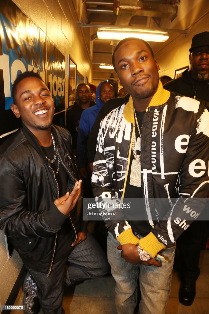 Rappers <a gi-track='captionPersonalityLinkClicked' href=/galleries/search?phrase=Kendrick+Lamar&family=editorial&specificpeople=8012417 ng-click='$event.stopPropagation()'>Kendrick Lamar</a> (L) and <a gi-track='captionPersonalityLinkClicked' href=/galleries/search?phrase=Meek+Mill&family=editorial&specificpeople=7187702 ng-click='$event.stopPropagation()'>Meek Mill</a> attend Power 105.1's Powerhouse 2013, presented by Play GIG-IT, at Barclays Center on November 2, 2013 in New York City.