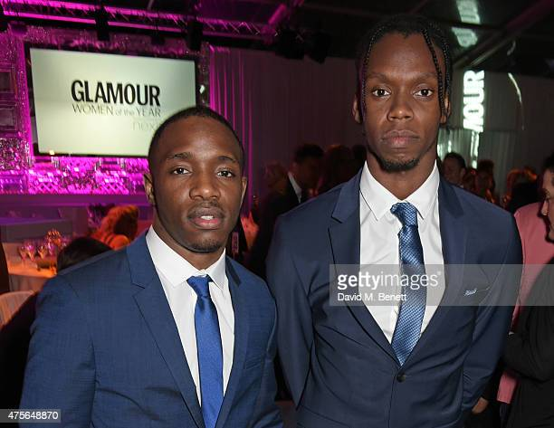 Rappers Konan and Krept attend the Glamour Women Of The Year awards at Berkeley Square Gardens on June 2 2015 in London England