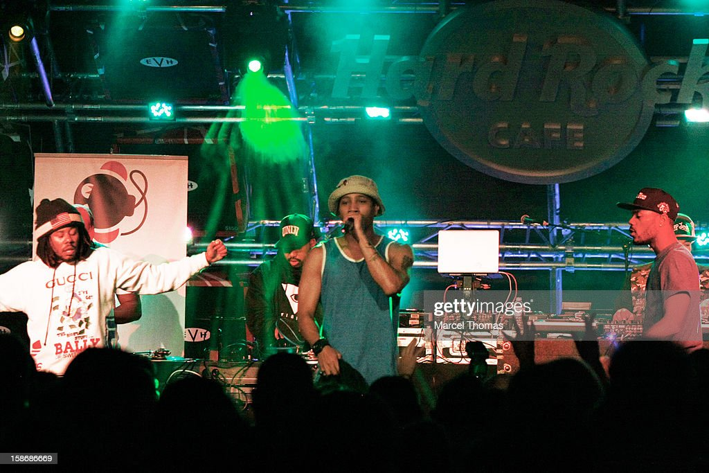 Rappers Like, B YOUNG and Mibbs of Pac Div perform at the HardRock Cafe on December 22, 2012 in Las Vegas, Nevada.