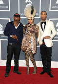 Rappers Lil Wayne Nicki Minaj and Tyga arrive at The 53rd Annual GRAMMY Awards held at Staples Center on February 13 2011 in Los Angeles California