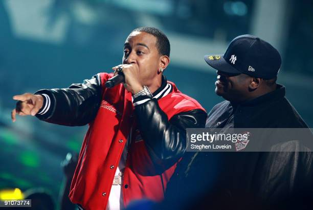 Rappers Ludacris and Scarface perform onstage at the 2009 VH1 Hip Hop Honors at the Brooklyn Academy of Music on September 23 2009 in the Brooklyn...