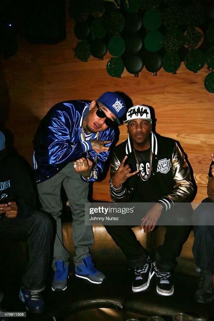 Rappers Mac Lucci and Grafh attend the Kid Capri Birthday Celebration & Euro Performance at Greenhouse on February 20, 2014 in New York City.